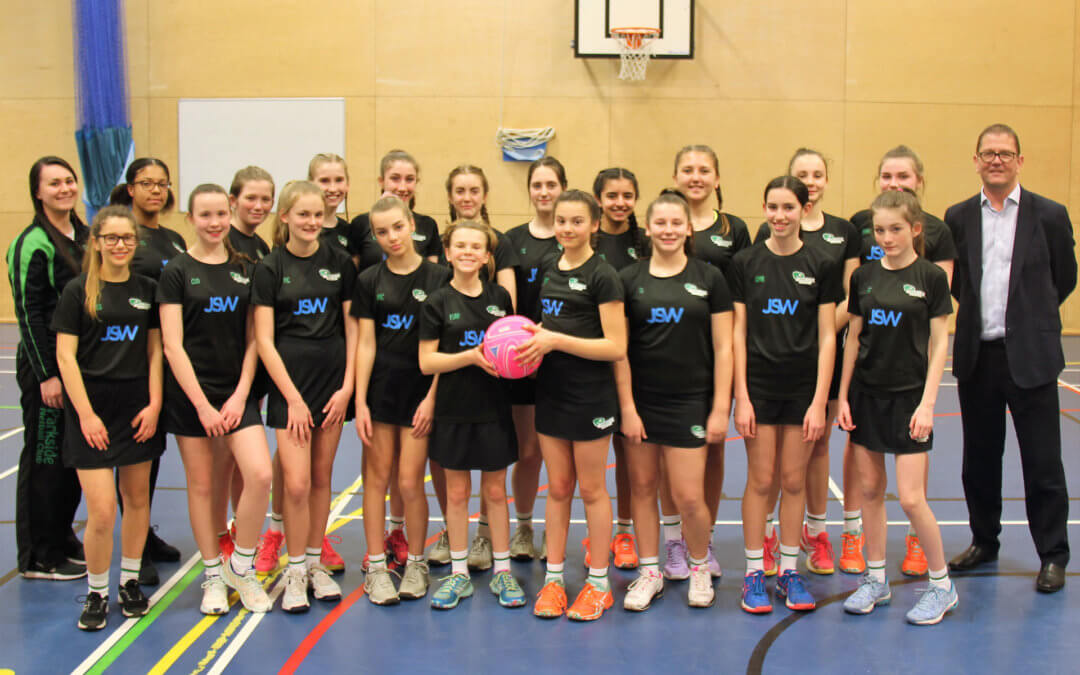 J S Wright to sponsor local premier junior netball club